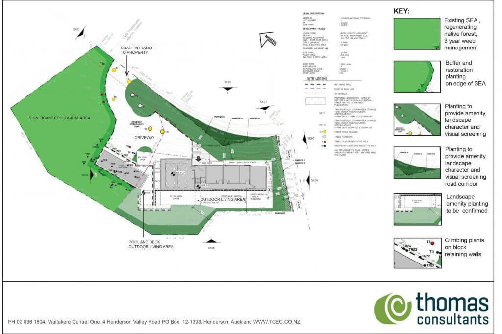 19 Rangiwai Road Schematic Landscape Plan