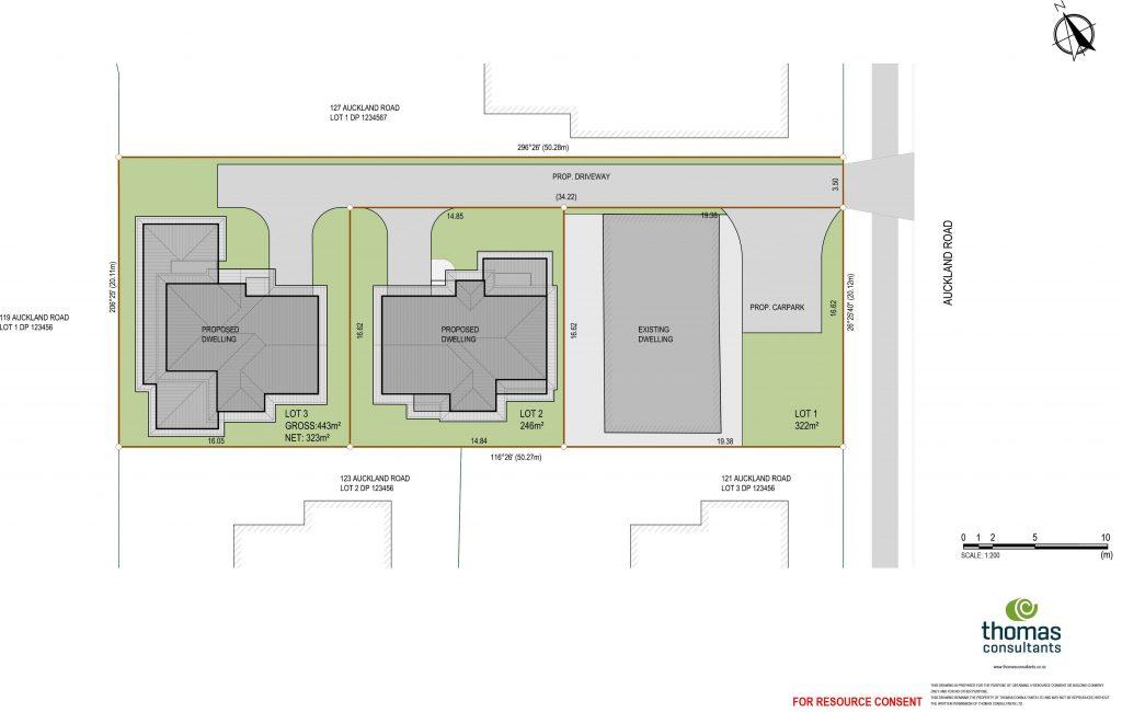 Scheme plan for Subdivision Tauranga