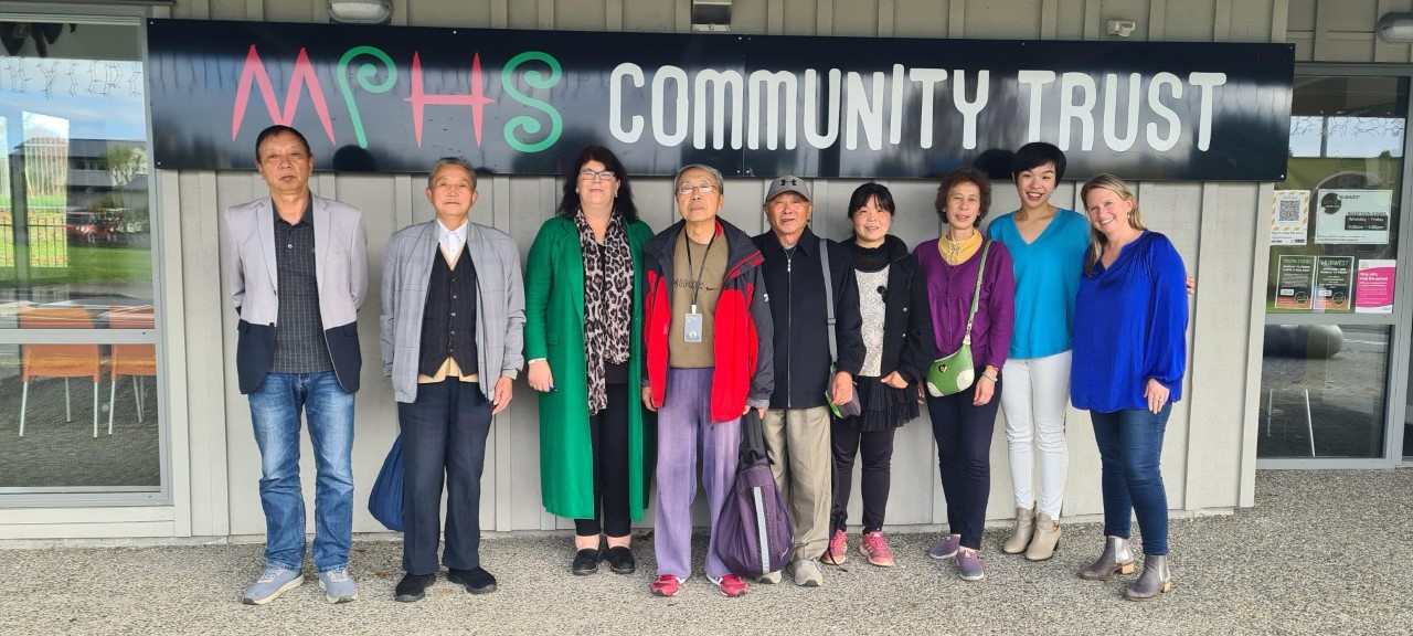 AEPA volunteer group excited about the restoration of the community garden at MPHS with the help of Thomas Consultants Ltd